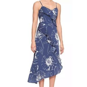 Banana Republic NWT blue floral asymmetrical dress